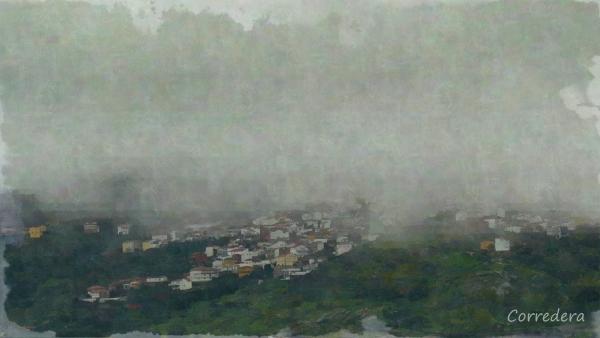 Vista del pueblo de Eljas. Elhas em Fala