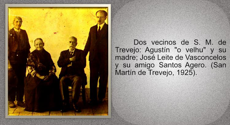 Dos vecinos de San Martín de Trevejo, José Leite de Vasconcelos y su amigo Santos Agero